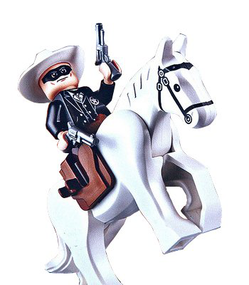 Lone Ranger And Silver Minifigures