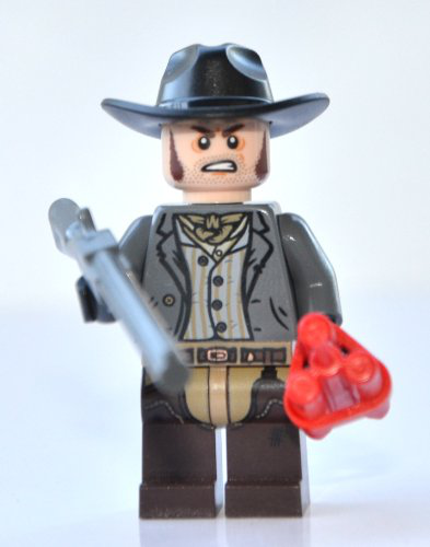 Lego Lone Ranger Theme - Barrett Minifigure With Rifle (new 2013-STYLE Style) And Dynamite